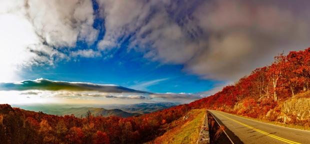 scenic drive fall