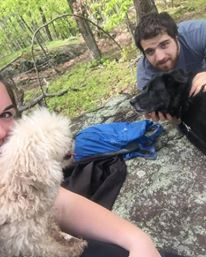 Hiking with the pups. April 2017