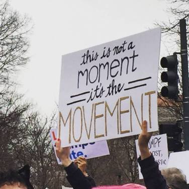 One of my favorite signs from the Women's March in Washington, DC. January 2017